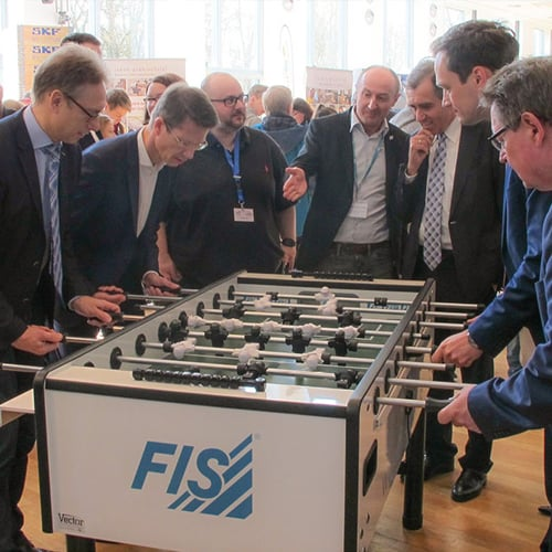 """""""PROMINENT FOOTBALL MATCH"""" AT THE FIS STAND AT THE SBIT TRAINING SHOW ON MARCH 25, 2017"""
