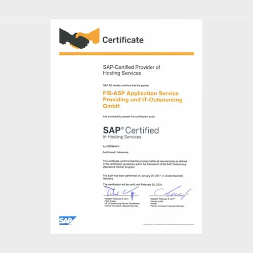 FIS-ASP – AN SAP-CERTIFIED ADVANCED HOSTING PARTNER