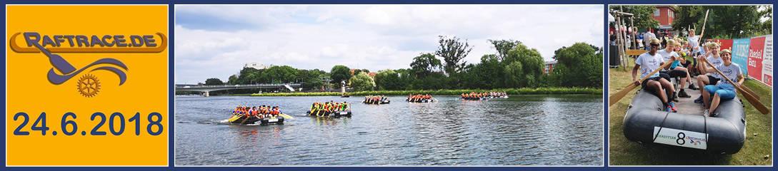 10. Rotarian Rowdy River Raft Race in Schweinfurt an der Mainuferpromenade