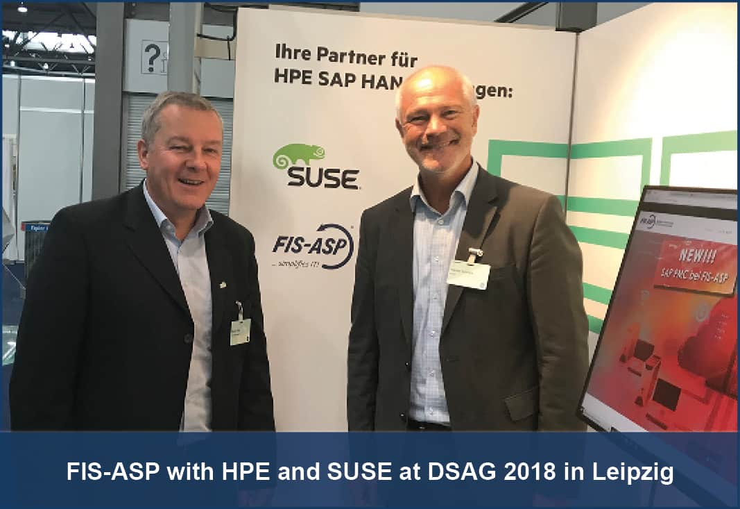 FIS-ASP with HPE and SUSE at DSAG 2018 in Leipzig