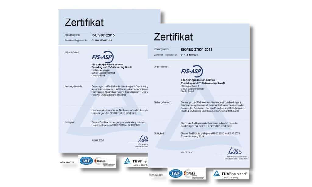 Zertifikat nach ISO 27001/9001
