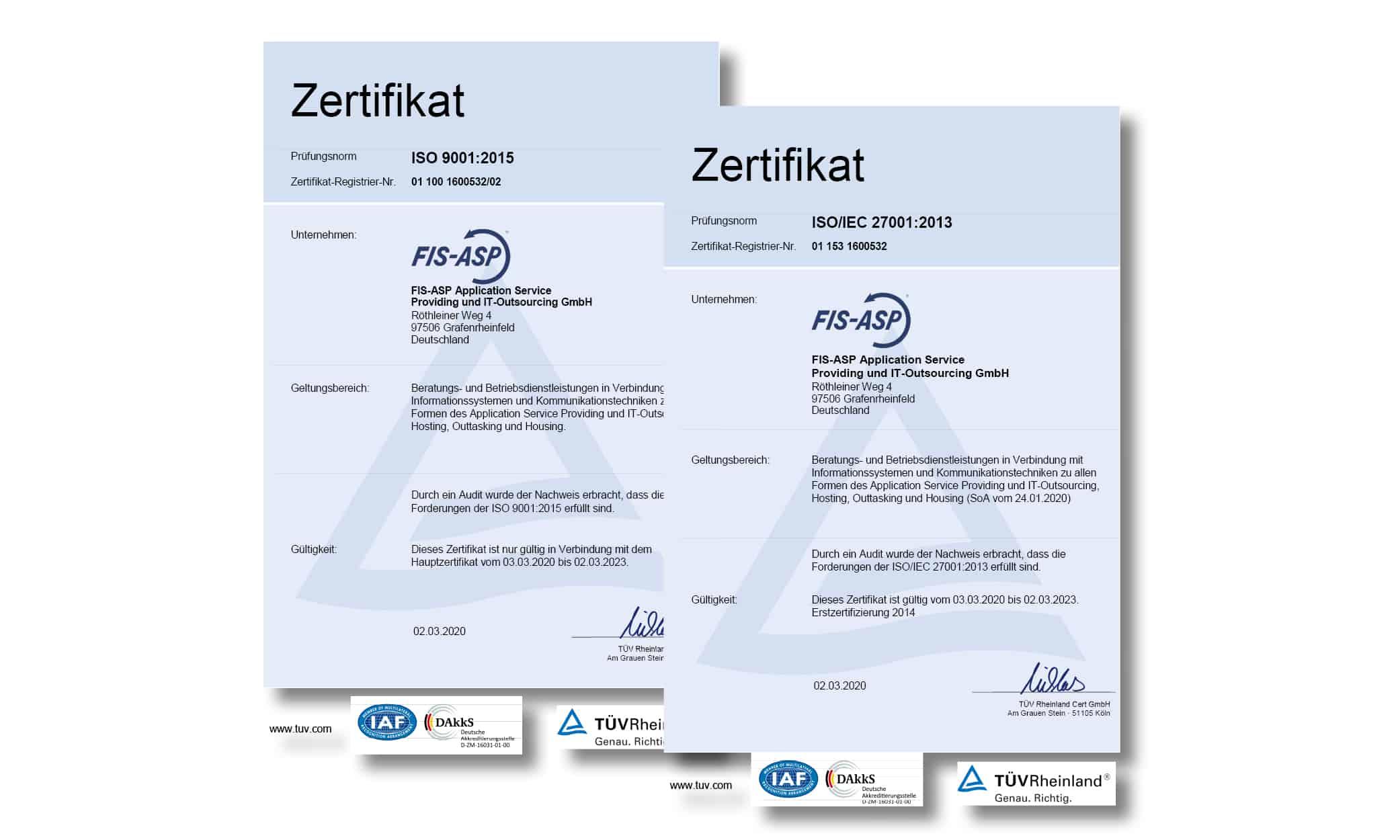 Erfolgreiche Rezertifizierung nach ISO 9001/27001!