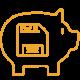 Vorteile SaaS_Keine Kosten Storage_orange_40x40-01
