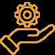 Vorteile SaaS_Verantwortung Wartung_orange_40x40-01